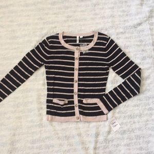 New with tags striped button down cardigan